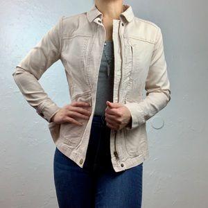 LOFT cream color cargo jacket XS petite